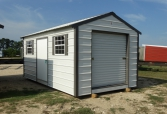 Cottage style building with 6' Roll Up Door. Great storage option. Quality built from Spartan Structures.