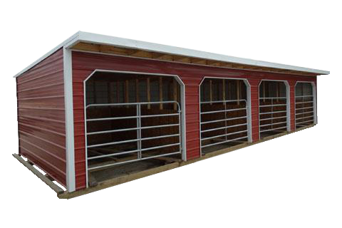 Spartan Structures builds portable horse barns